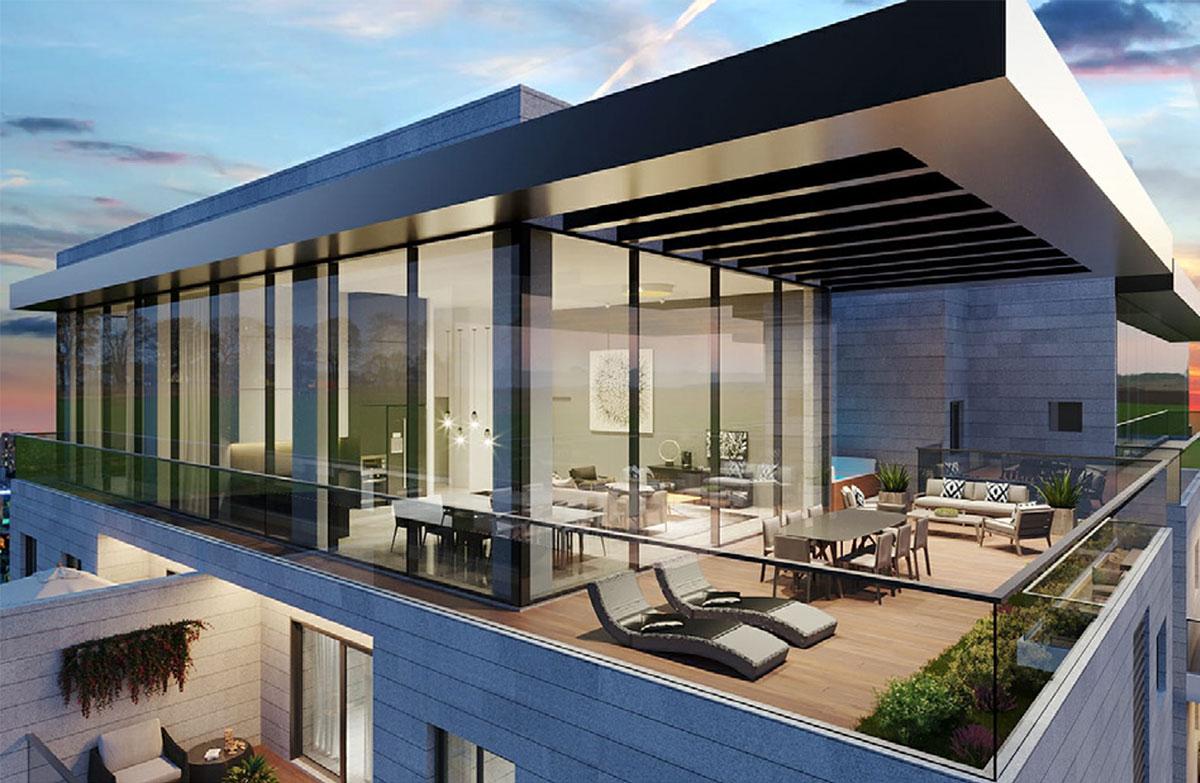 הדמיית דירה מגדל סוהו חדרה