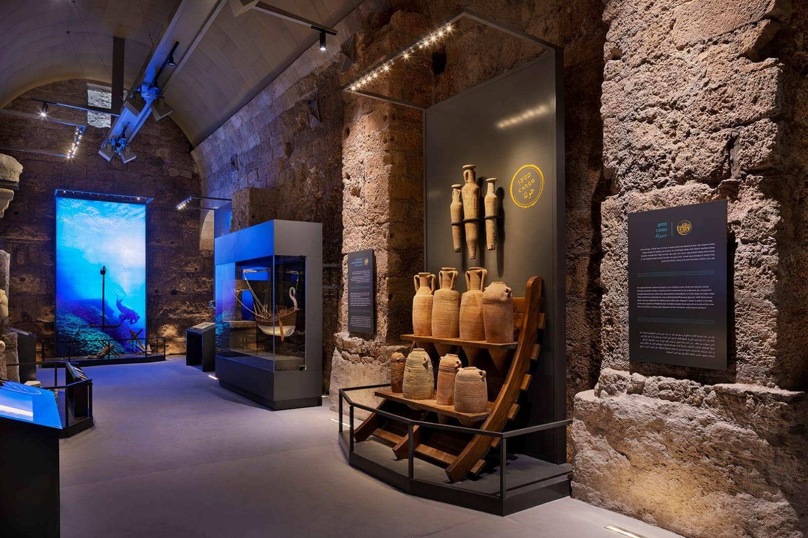 מרכז המבקרים החדש בקיסריה. אתר רשות הטבע והגנים וכן רשות העתיקות