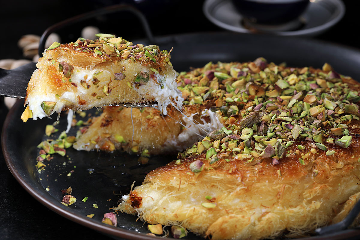 כנאפה עם גבינה עיזים