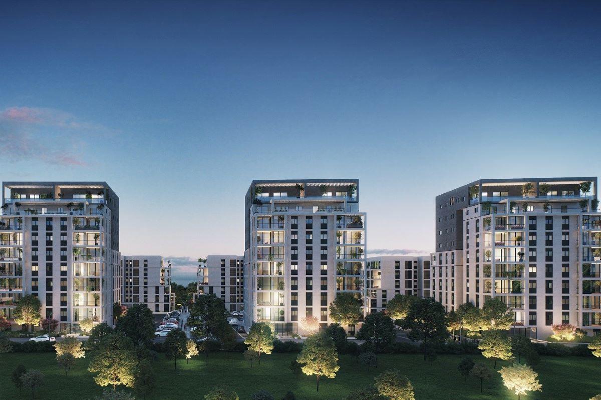 """פרויקט """"BSTאור ים"""" הנו פרויקט מגורים ייחודי מסוגו המשלב שמונה בניינים מדורגים, ארבעה בניינים בני שש קומות וארבעה בני 10 קומות"""