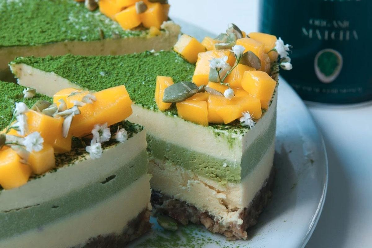 עוגת מאצ'ה מנגו