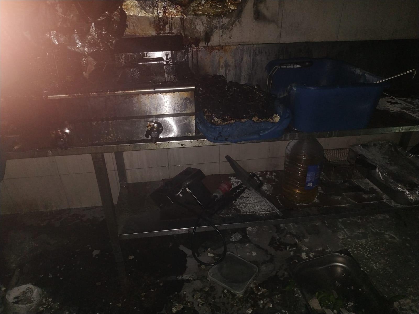שריפה במסעדה