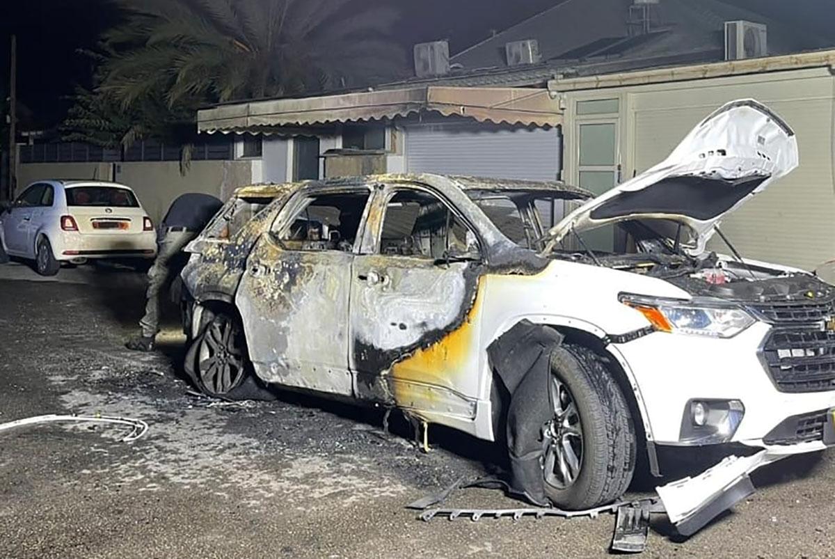 רכב שנשרף באור עקיבא